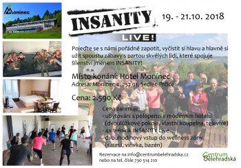 INSANITY Live v Hotelu Monínec – říjen 2018